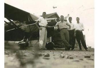 Campo de Aviação em 1955 (Foto: Faraday Zanandrea).