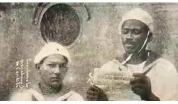 João Cândido lendo o manifesto da Revolta da Chibata, movimento que, supõe-se, teria a participação do Capitao Marinho, e depois fugido à região de Adamantina (Reprodução).