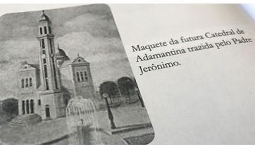 Ilustração da futua catedra de Adamantina, trazida pelo padre Jerônimo Brasil de Carvalho, na década de 50 (Reprodução: Livro Reviver Adamantina/João Carlos Rodrigues).