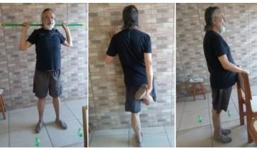 Parte do programa do exercícios em casa (Acervo Pessoal).