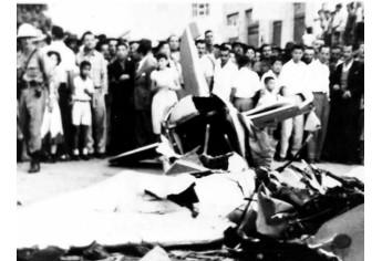 Acidente aéreo em Adamantina (Reprodução: Arquivo Histórico Municipal).