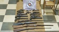Polícia Militar apreende 30 armas e frustra roubo a fazenda