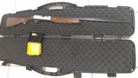 Arma foi apreendida pela Polícia Ambiental (Foto: Cedida/PM Ambiental).