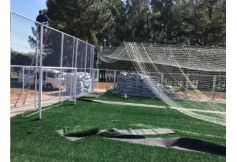 Quadra recebe grama sintética, no Parque dos Pioneiros (Foto: Siga Mais). Quadra recebe grama sintética, no Parque dos Pioneiros (Foto: Siga Mais).