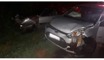 Acidente em estrada vicinal deixa motorista gravemente ferido