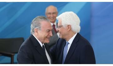 O ex-presidente Michel Temer e ex-ministro Moreira Franco em cerimônia no Palácio do Planalto - Arquivo/Antonio Cruz/Agência Brasil