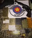 PM prende homem com arma e 261 munições