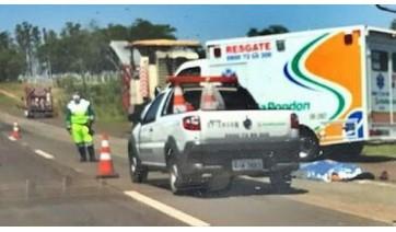 Homem de 30 anos morre atropelado por colega de trabalho durante obra em rodovia