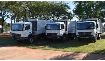 Novos veículos permitiram renovar e reforçar a frota em vários setores da administração municipal (Divulgação/PMA).