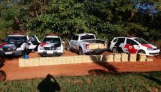 Camionete com carregamento de maconha tomba e motorista é preso