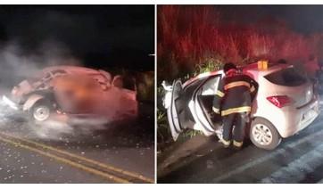 Casal morre carbonizado em acidente na SP 294 em Parapuã