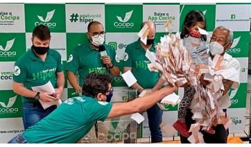 Sorteio realizado na manhã deste sábado, 11, faz os dez primeiros ganhadores da campanha Hiper Cliente Feliz Cocipa 60 anos (Divulgação).