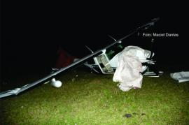 Avião faz pouso forçado em propriedade rural na região do bairro Pé de Galinha
