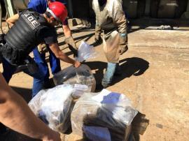 Droga incinerada é proveniente de apreensões realizadas na região. Incineração é realizada com autorização do Poder Judiciário (Foto: Polícia Civil).