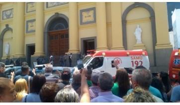 Tensão com a tragédia na Catedral de Campinas, com cinco mortos e três feridos (Reprodução).