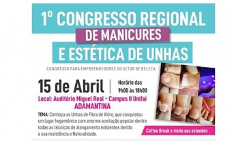 Adamantina terá 1º Congresso de Manicures e Estética de Unhas