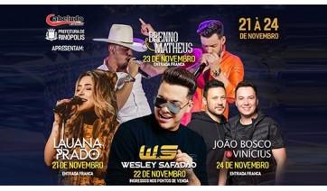 Começa nesta quinta a Festa do Peão em Rinópolis: programação tem Wesley Safadão e grandes atrações