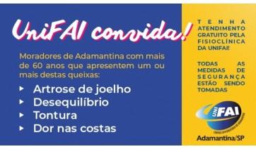 Fisioclínica da UniFAI convida idosos de Adamantina para atendimento gratuito