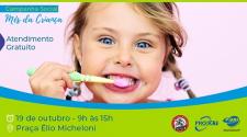 Atlética de Odonto faz atendimentos gratuitos e orientações para crianças na praça neste sábado