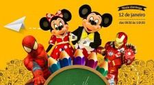 Cocipa recebe personagens infantis e super-heróis neste domingo
