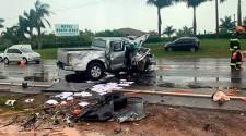 Policial militar aposentado e mulher morrem em acidente na SP-294
