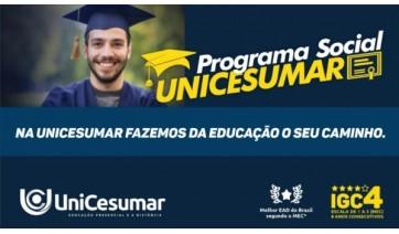 Unicesumar oferece bolsa de estudo social em cursos de graduação