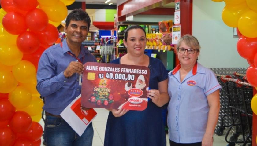 Cliente do Supermercado Godoy ganha R$ 40 mil em promoção da Rede Smart