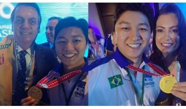 Fisioterapeuta de Adamantina e surdoatletas campeões mundiais em futsal são homenageados em Brasília