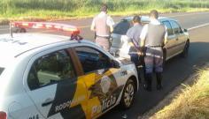 Carro furtado em Tupã é recuperado instantes depois na SP-294 em Osvaldo Cruz