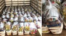 Moradores do Parque das Nações arrecadam recursos, adquirem cestas básicas e doam ao Fundo Social