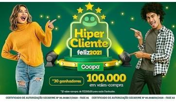 Campanha Hiper Cliente Feliz Cocipa entra na reta final e faz novos sorteios no sábado