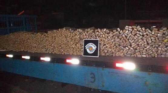 Dois homens são presos em Dracena com quase 700 quilos de maconha