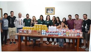 Ligas de estudantes da UniFAI e Demolay arrecadam mais de 1,2 mil litros de leite para PAI Nosso Lar
