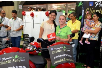 Entrega dos prêmios da Campanha Cliente Feliz, na Cocipa (Foto: Maikon Moraes).