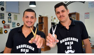 Barbearia Seu Zé: irmãos garantem sucesso do negócio