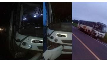 Ônibus que conduzia trabalhadores rurais de Parapuã, envolvido no acidente (Reprodução: Guia Online Parapuã).