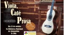 """Nesta sexta acontece o  """"Viola, Café e um Dedinho de Prosa"""" na Biblioteca Municipal"""
