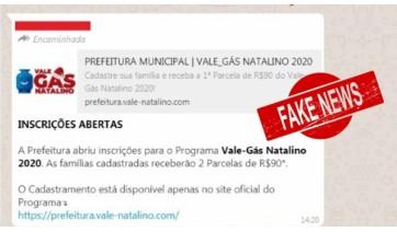 Prefeitura de Adamantina informa que mensagem sobre Programa Vale-Gás é fake news