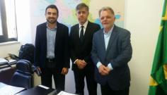 Márcio Cardim e Mauro Bragato participam de reunião sobre a FATEC