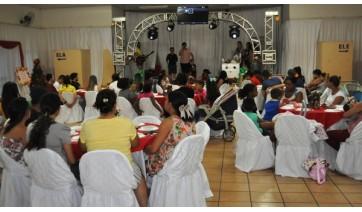 Grupo Doce Espera, que reúne gestantes atendidas pelas Estratégias da Saúde da Família do Jardim Brasil, Vila Jardim, Vila Jamil de Lima e áreas rurais, fez último encontro nesta semana (Da Assessoria).