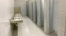 Banheiro masculino da Emef Navarro de Andrade é reformado
