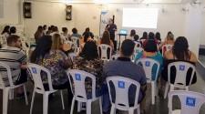 """NASF-AB realiza encontro do grupo """"Linha de Cuidado Sobrepeso e Obesidade"""" com 15 pacientes"""