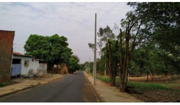 Na Rua José Modesto no Jardim Primavera, estão sendo instalados 9 postes que resultarão em uma extensão de 305 metros de rede secundária (Da Assessoria).