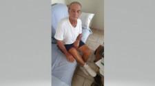 Deficiente físico idoso atacado por abelhas tem alta hospitalar e volta para casa