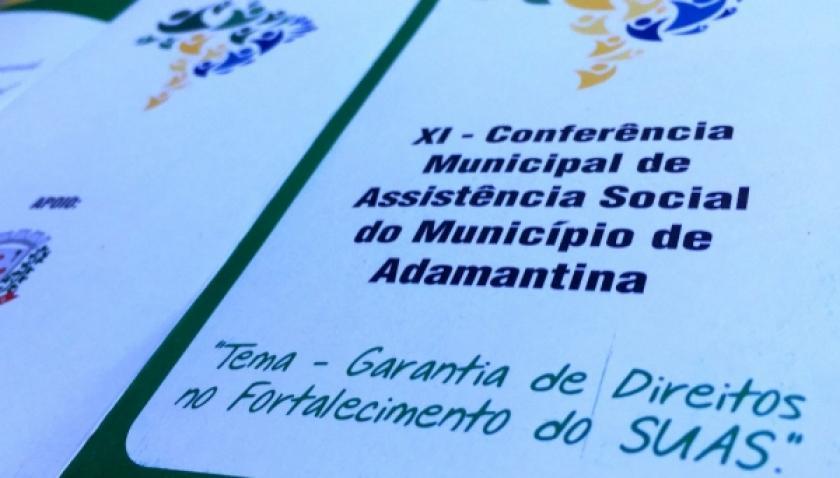 """Adamantina realiza nesta sexta a """"XI Conferência Municipal de Assistência Social"""""""