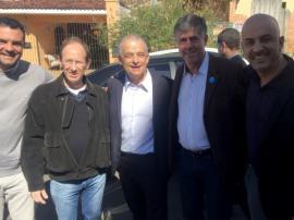 Eder Ruete, Eduardo Fiorillo, Márcio França, Márcio Cardim e Acácio Rocha, após assinatura do convênio  (Foto: Siga Mais).