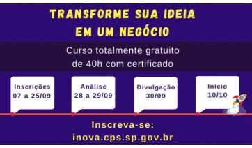 Últimos dias de inscrições para a Escola de Inovadores do Centro Paula Souza