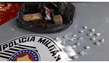 Com apoio de helicóptero, Polícia Militar de Lucélia prende dupla de traficantes