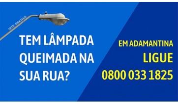 Iluminação pública em Adamantina tem novo canal de atendimento: 0800 033 1825