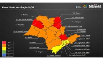 Regiões de Marília e Prudente vão para a fase laranja do Plano São Paulo; veja como fica